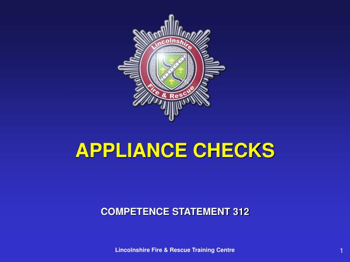 appliance checks n.