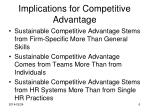 implications for competitive advantage