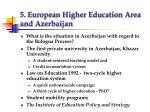 5 european higher education area and azerbaijan