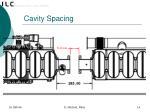 cavity spacing