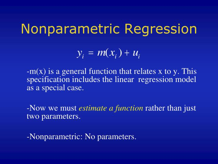 nonparametric regression n.