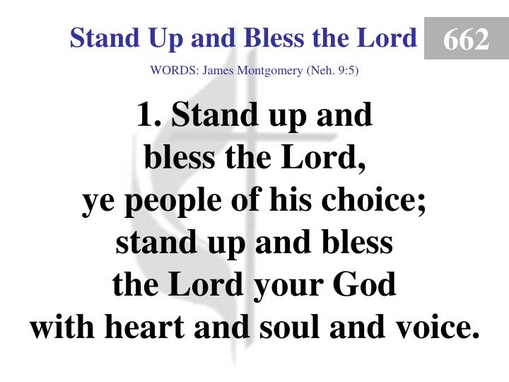 stand up and bless the lord 1 n.