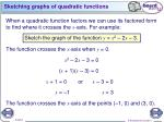 sketching graphs of quadratic functions1