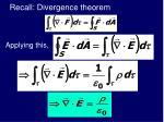 recall divergence theorem