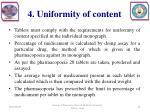 4 uniformity of content