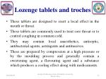 lozenge tablets and troches