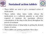 sustained action tablets