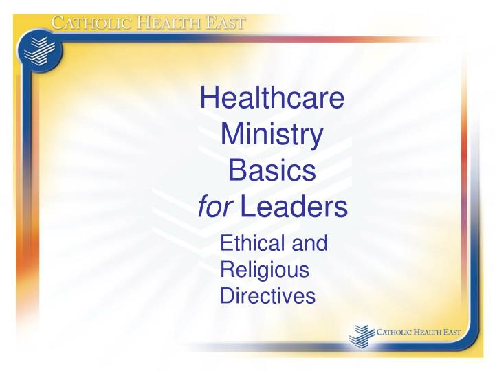 healthcare ministry basics for leaders n.