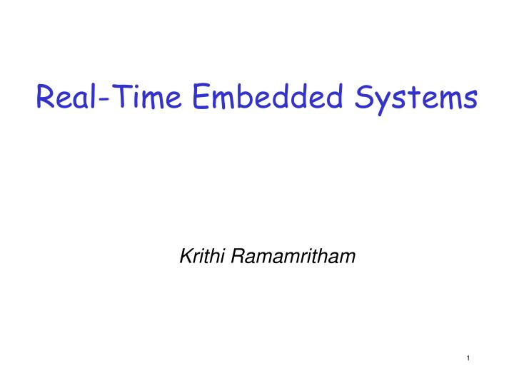 real time embedded systems n.