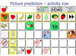 picture prediction activity row