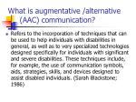 what is augmentative alternative aac communication