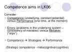 competence aims in lk06