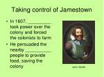 taking control of jamestown