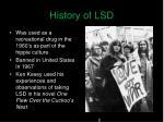 history of lsd2