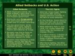 allied setbacks and u s action