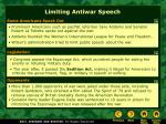 limiting antiwar speech