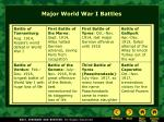 major world war i battles
