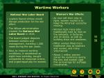 wartime workers