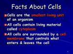 facts about cells