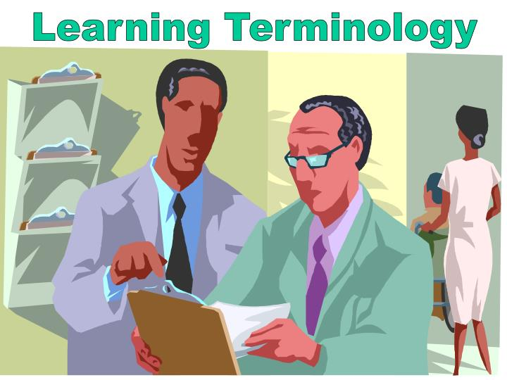 learning terminology n.