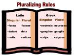 pluralizing rules