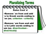 pluralizing terms part 5