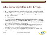 what do we expect from co living