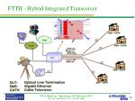 ftth hybrid integrated transceiver