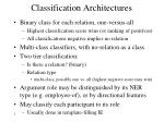 classification architectures