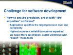 challenge for software development