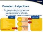 evolution of algorithms