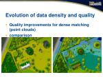 evolution of data density and quality