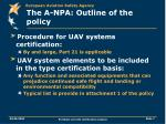 the a npa outline of the policy1