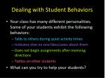 dealing with student behaviors