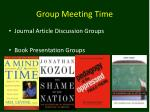group meeting time