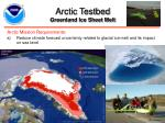 arctic testbed greenland ice sheet melt