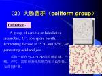 2 coliform group