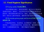 2 food hygiene significance