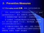 5 preventive measures