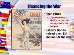 financing the war