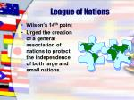 league of nations