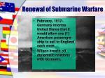 renewal of submarine warfare