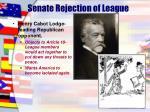 senate rejection of league