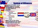 system of alliances