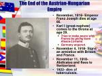 the end of the austrian hungarian empire
