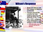 wilson s response