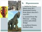 b mycenaeans