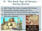 d the dark age of greece dorian period