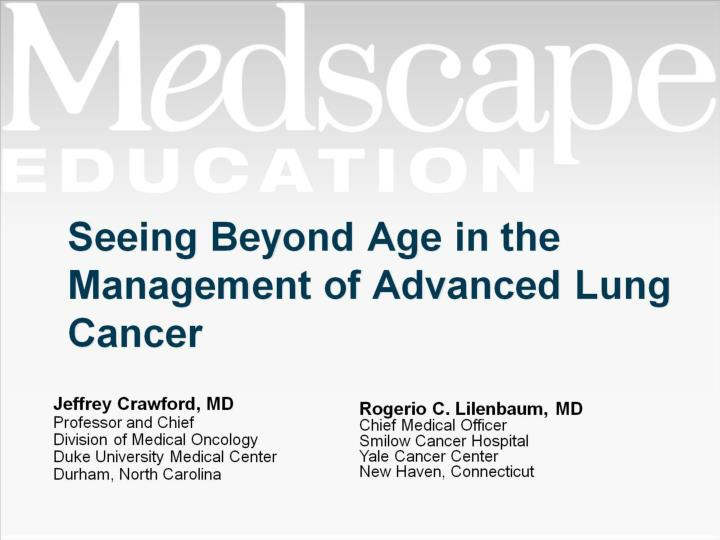 seeing beyond age in the management of advanced lung cancer n.