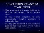 conclusion quantum computing